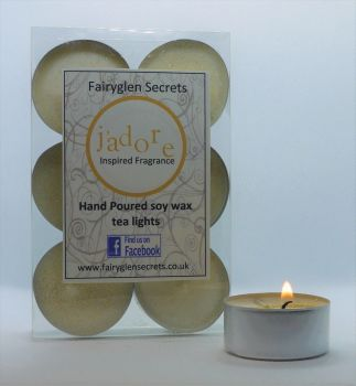 """J'adore"" Inspired Fragrance Soy Wax Tea Lights"