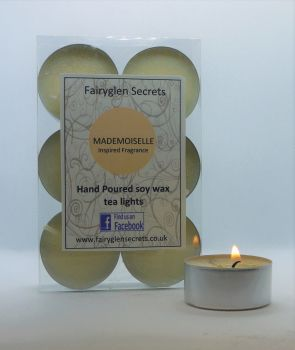 """Mademoiselle"" Inspired Fragrance Soy Wax Tea Lights"