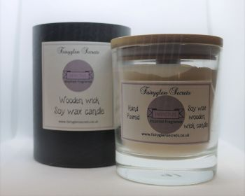 """""""Invictus"""" Inspired Fragrance Soy Wax Wooden Wick Candle Jar"""