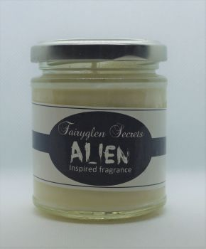 """Alien"" Inspired Fragrance Soy Wax Candle Jar"
