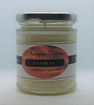 """Aramis"" Inspired Fragrance soy wax candle jar"