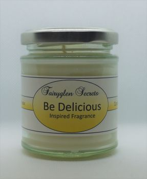 """Be Delicious"" Inspired fragrance soy wax candle jar"