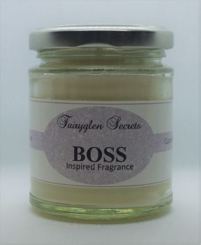 """Boss"" Inspired Fragrance soy wax candle jar"
