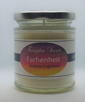 """Fahrenheit"" Inspired Fragrance soy wax candle jar"