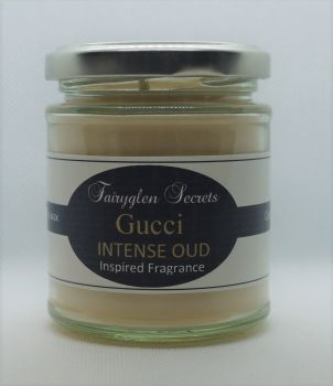 """Gucci oud"" Inspired fragrance soy wax candle"