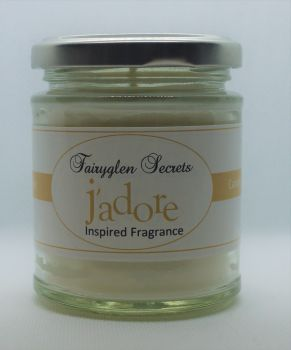 """J'Adore"" Inspired Fragrance soy wax candle jar"