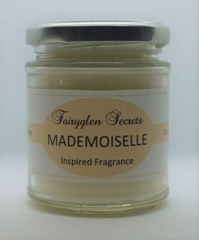 """Mademoiselle"" Inspired Fragrance Soy Wax Candle Jar"