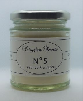 """Number 5"" Inspired Fragrance Soy Wax Candle Jar"