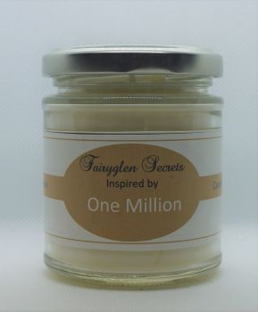 """One  Million"" Inspired Fragrance soy wax candle jar"