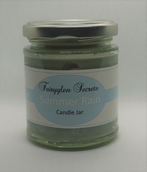 """Summer Rain"" Fragrance candle Jar"