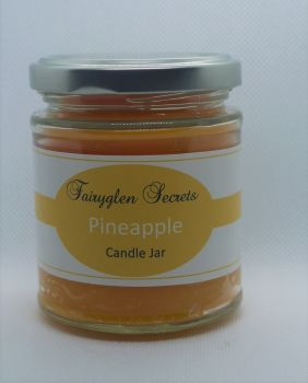 """Pineapple"" Fragranced Candle Jar"