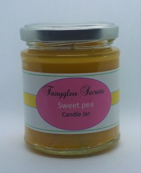 """Sweet Pea"" Fragranced Candle Jar"