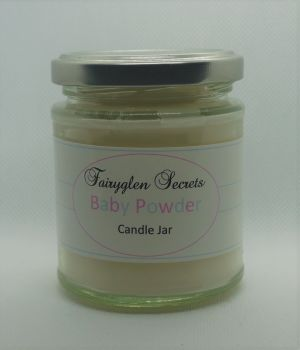 """Baby Powder"" Fragranced candle Jar"