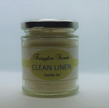 """Clean Linen"" Fragranced Candle Jar"