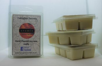 """Aramis"" Inspired Fragrance, clam shell soy wax melts"