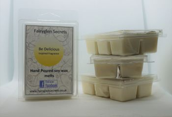"""Be Delicious"" Inspired Fragranced, clam shell soy wax melts"