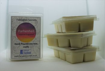 """Fahrenheit"" inspired Fragrance soy wax melts"