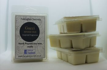 """Gucci oud"" Inspired Fragrance, Clam Shell Soy Wax Melts"