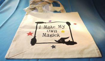 """I Make My Own Magick"" Cotton Bag Medium"