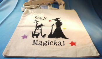 """Stay Magickal"" Cotton Bag Medium"