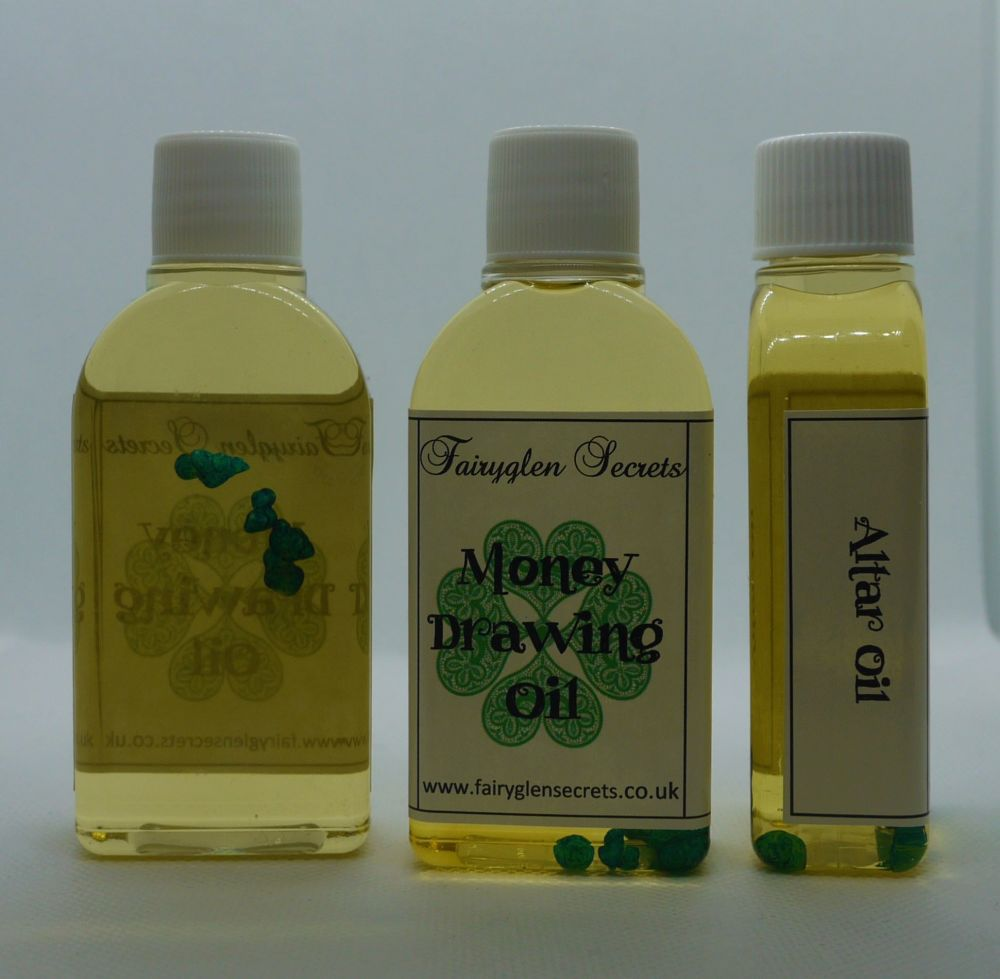 Money Drawing Oil for Prosperity, Luck, and Success