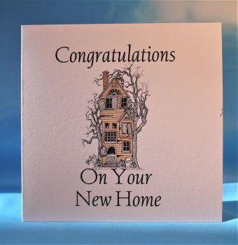 Tall house New Home Card