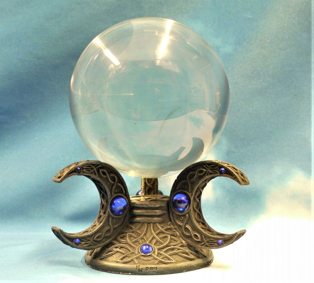 Triple Moon Crystal Ball And Stand