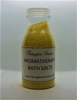 Aromatherapy Bath Salts -  Yellow - Grapefruit, Peppermint & May Chang Basil essential oils