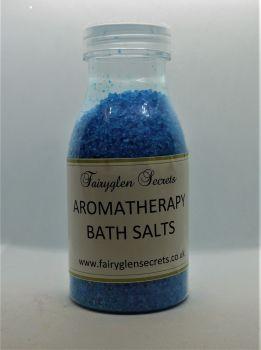 Aromatherapy bath salts - Dark Blue - Lavender, Orange & Sweet Basil essential oils