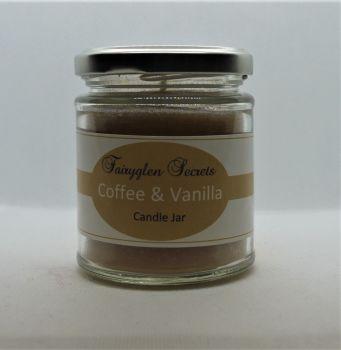 """""""Coffee & Vanilla"""" Fragranced Candle Jar"""
