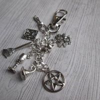 Multi wiccan/witch bag charm/ key ring