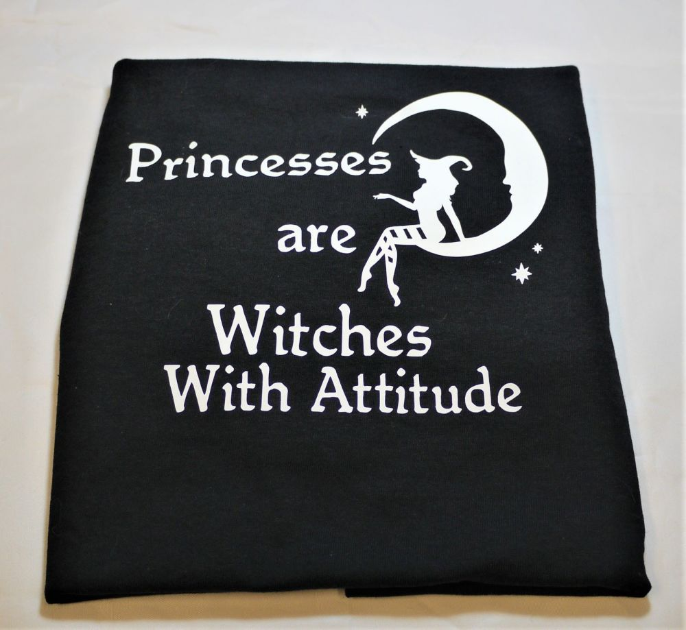 Witches Are  Princesses With Attitude Childrens T' Shirt