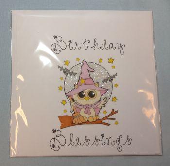 Owl Birthday Blessings