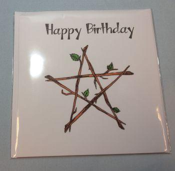 Pentagram Happy Birthday