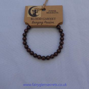 Power Bracelet - Blood Garnet