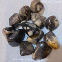 Silver Leaf Jasper Tumble Stone