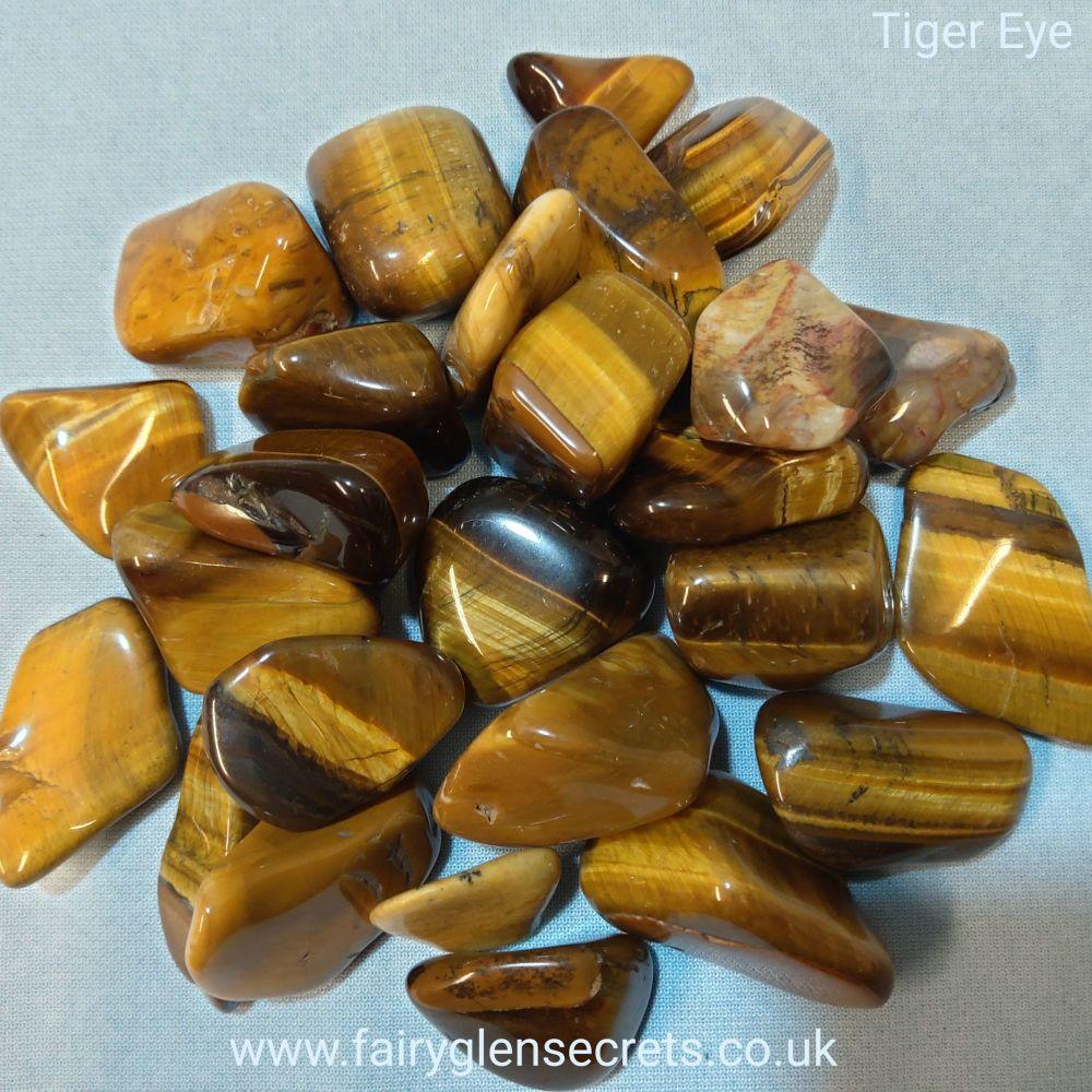 Tiger Eye Gold Tumble Stone