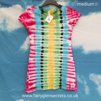 Tye dye T'shirt Dress - Medium