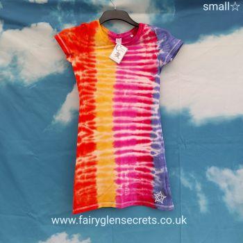 Tye dye T'shirt Dress - Small