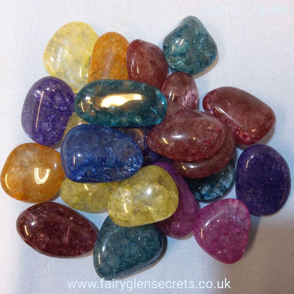 Quartz Crackle Tumble Stone