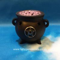Cauldron Incense Cone Holder - Pentagram