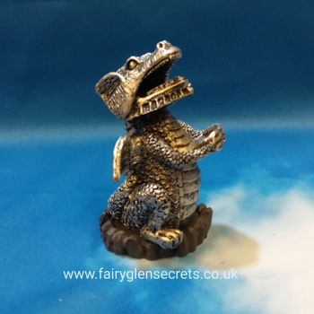 Dragon Incense Cone Holder - Silver