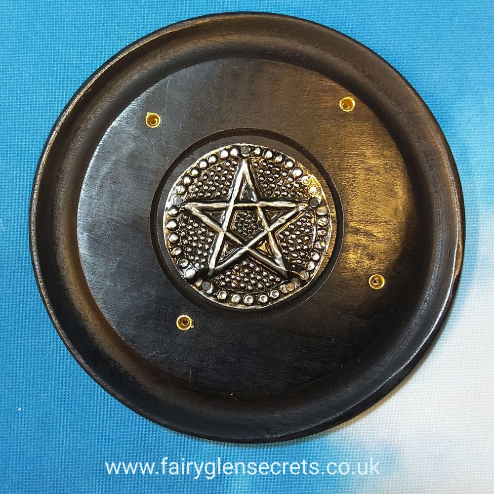 Wooden Pentagram Ash Catcher - Black