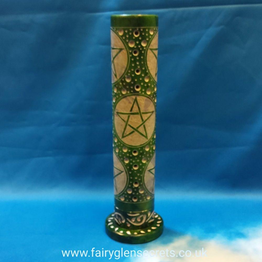 Soapstone tower incense burner