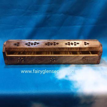 Wooden Coffin box incense Holder