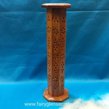 Wooden upright wooden incense holder
