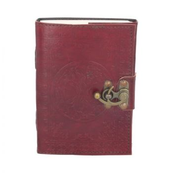 leather Embossed Pentagram Journal with clasp type 2