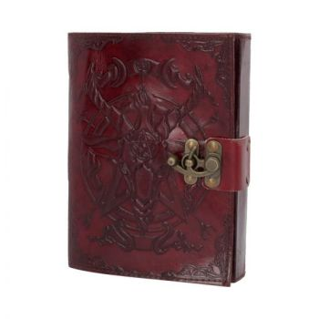 Leather Embossed Baphomet Journal with Clasp