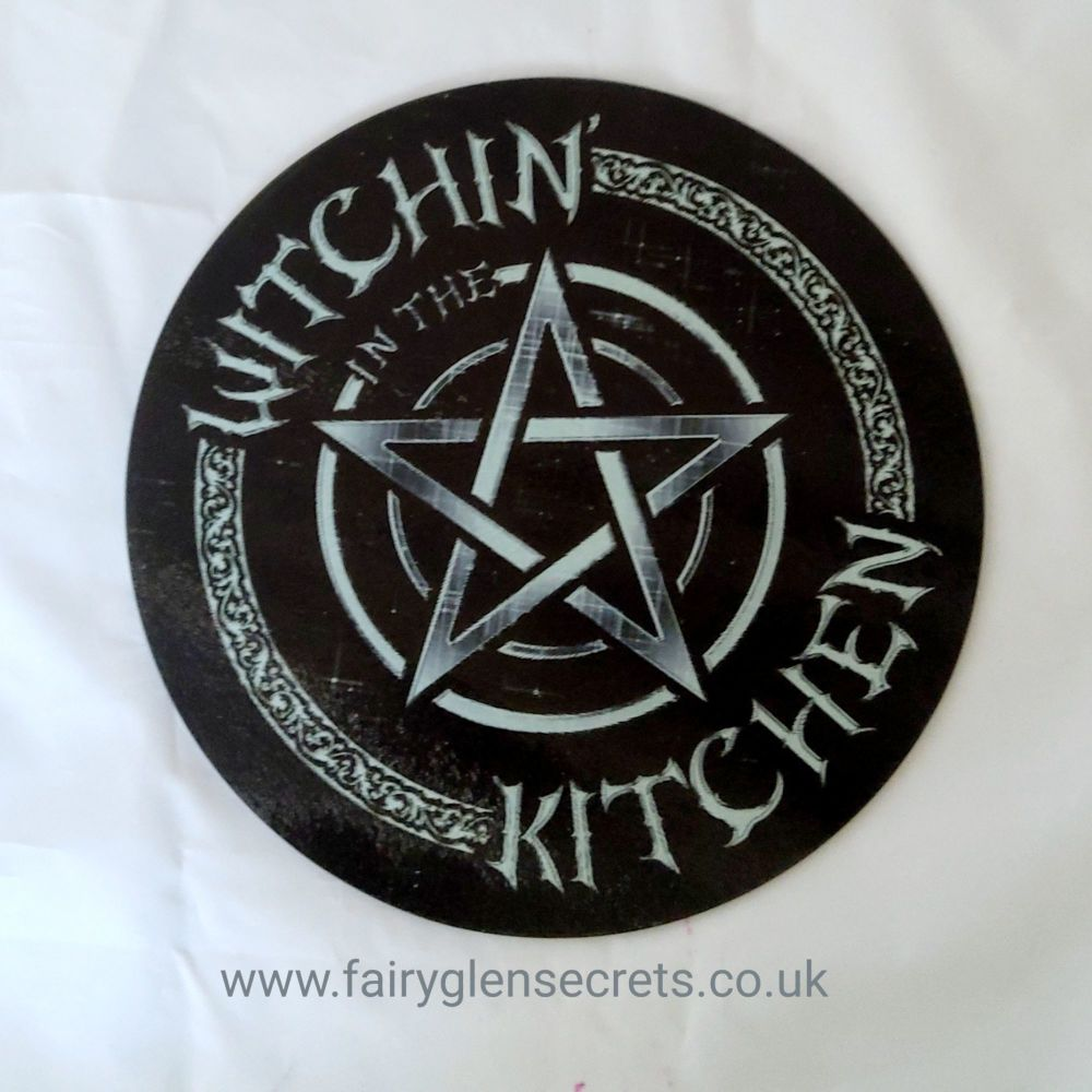 Circular Glass Chopping Board - Witchin In The Kitchen