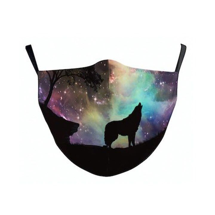 Galaxy wolf Reusable Face Covering
